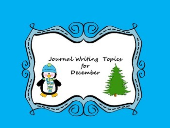 December Journal Writing Booklet No Prep