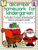 December Kindergarten Common Core Homework