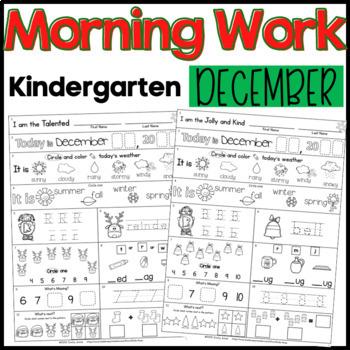 Morning Work: Kindergarten December Packet (Winter Common