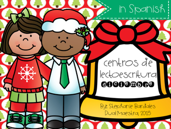 December Literacy Centers in Spanish