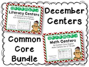 December  Literacy & Math Centers Menu BUNDLE {CCS Aligned