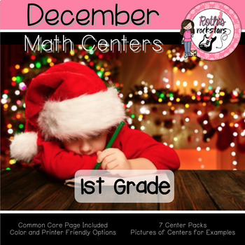 December Centers - 1st Grade - Math