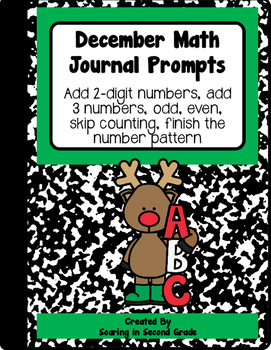 December Math Journal Prompts Numbers in Base Ten