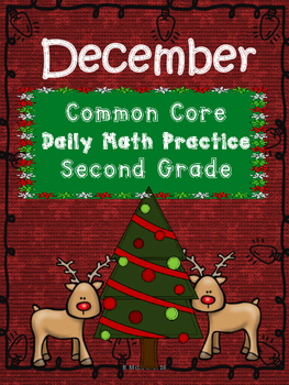 December Math Journal for Second Grade Common Core