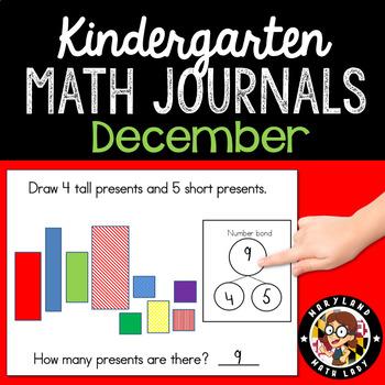 December Math Journals with Number Bonds: Kindergarten