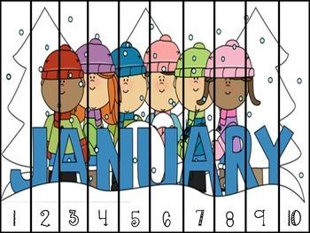 January Math Puzzles *FREEBIE*