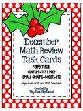 December Math Review Task Cards for 4th & 5th Grades - CCS