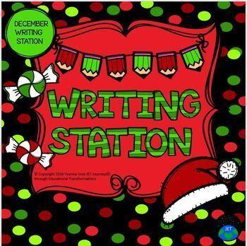 December Mini Writing Station