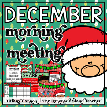 December Morning Meeting and Calendar First Grade