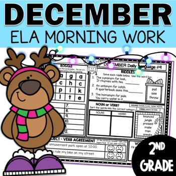 December Morning Work Daily Language for Second Grade