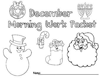 December Morning Work Packet