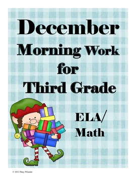 December Morning Work for Third Grade