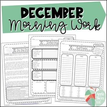 December Morning Work! {For Upper Elementary}