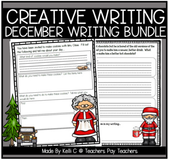 December Narrative Writing- Bundle of all Writing Packets