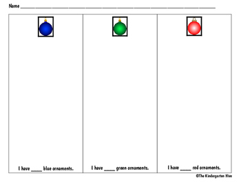 December Christmas Ornaments Count & Classify Worksheet (b