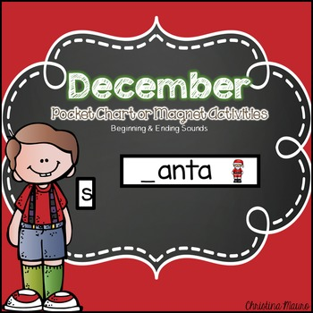 December Pocket Chart or Magnetic Letter Activities