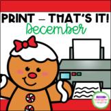 December Print - That's It! Kindergarten Math and Literacy