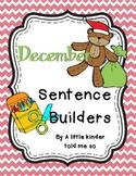 December Sentence Builders