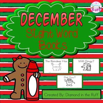 December Sight Word Books