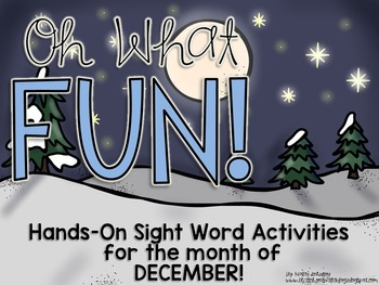 December Sight Word Centers and Activities for Christmas