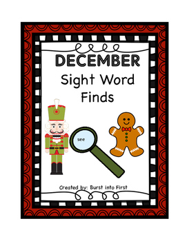 December Sight Word Finds Bundle