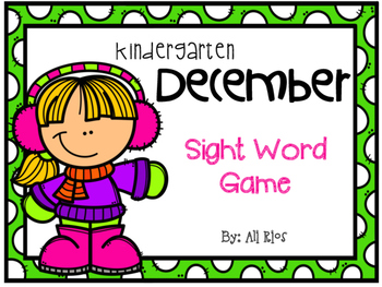 December Sight Word Game