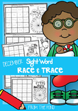 December Sight Word Worksheets - Race and Trace