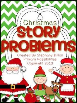 December Story Problem Printable Books