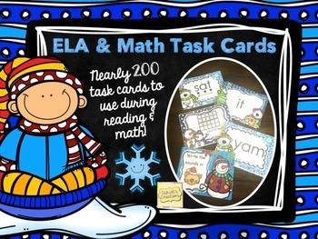Winter Task Cards - ELA & Math