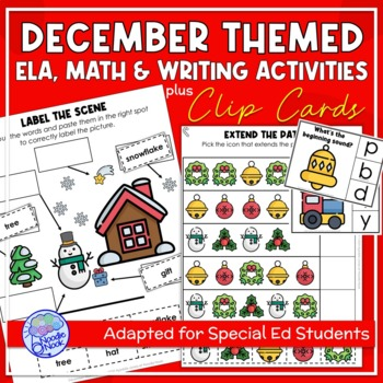 December Themed Adapted Unit for Autism or Early Elem. (Ma