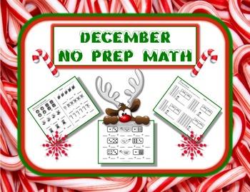 December Themed NO PREP Math Pack - 23 Print and Go Math A