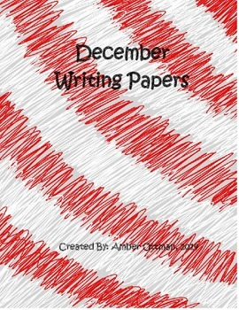 December Themed Writing Paper