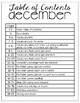 December Vocabulary Unit-  for Student's with Special Needs
