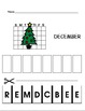 December Vocabulary for special education, autism, early c