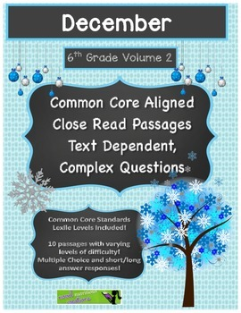 December 6th (V2) Common Core Close Read with Text Depende