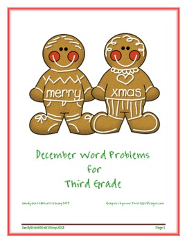 December Weekly Word Problems for Third Grade