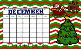 December Whole Group Math Flipchart