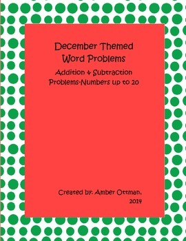 December Word Problems: Addition and Subtraction Problems