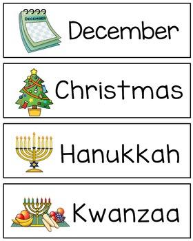 December/ Winter Word Wall