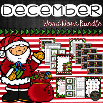 Christmas Activities and December Word Work Activity Bundle