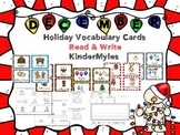 December Words {Vocabulary, Write the Room & Readers}