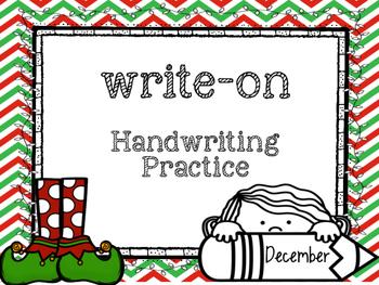 December Write-On (  Handwriting practice for 1st grade)