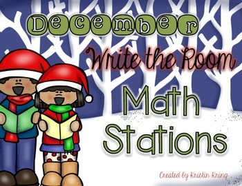December Write the Room Math Stations