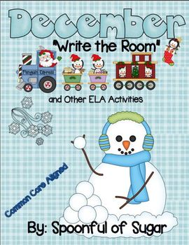 """December """"Write the Room"""" and other ELA Activities"""