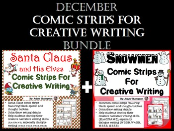 December Writing: December Comic Strips BUNDLE
