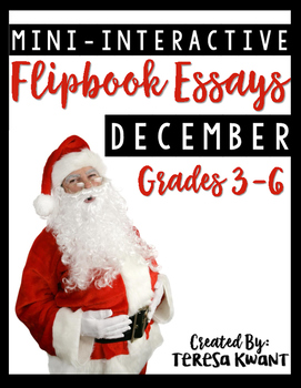 December Writing Projects for 3rd, 4th, 5th, and 6th grade