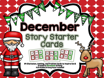 Christmas Narrative Story Starter Set: Character, Problem,