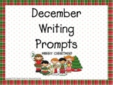 December Writing Prompts for Interactive Whiteboard and Li
