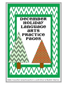 December/Christmas ELA Practice Pages