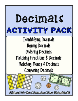 Decimal Activity Pack